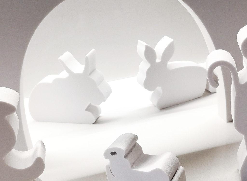 whitedesign presepe in pvc bianco