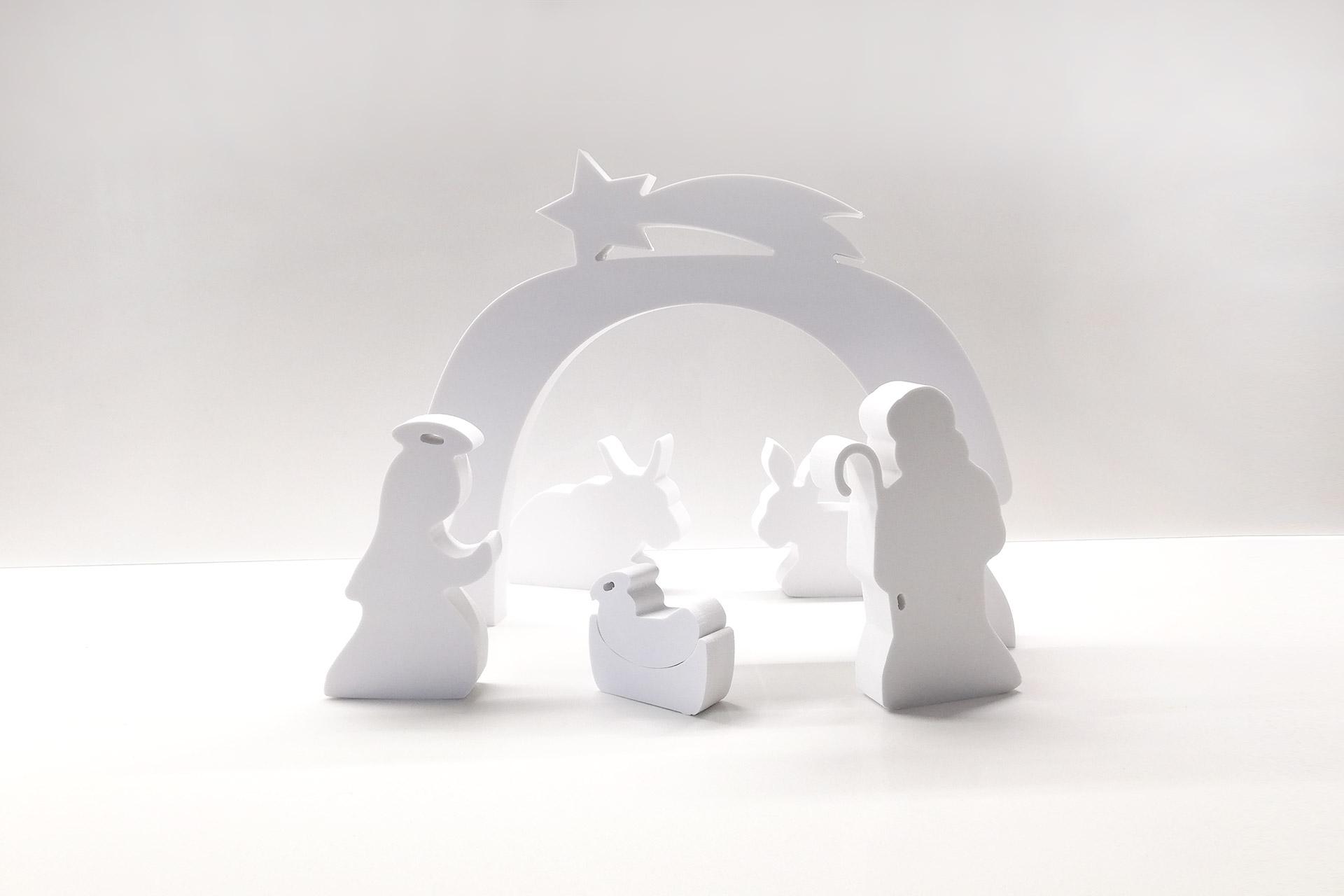 whitedesign decorazioni natalizie in PVC