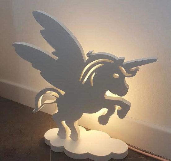 Lampada unicorno in PVC compatto