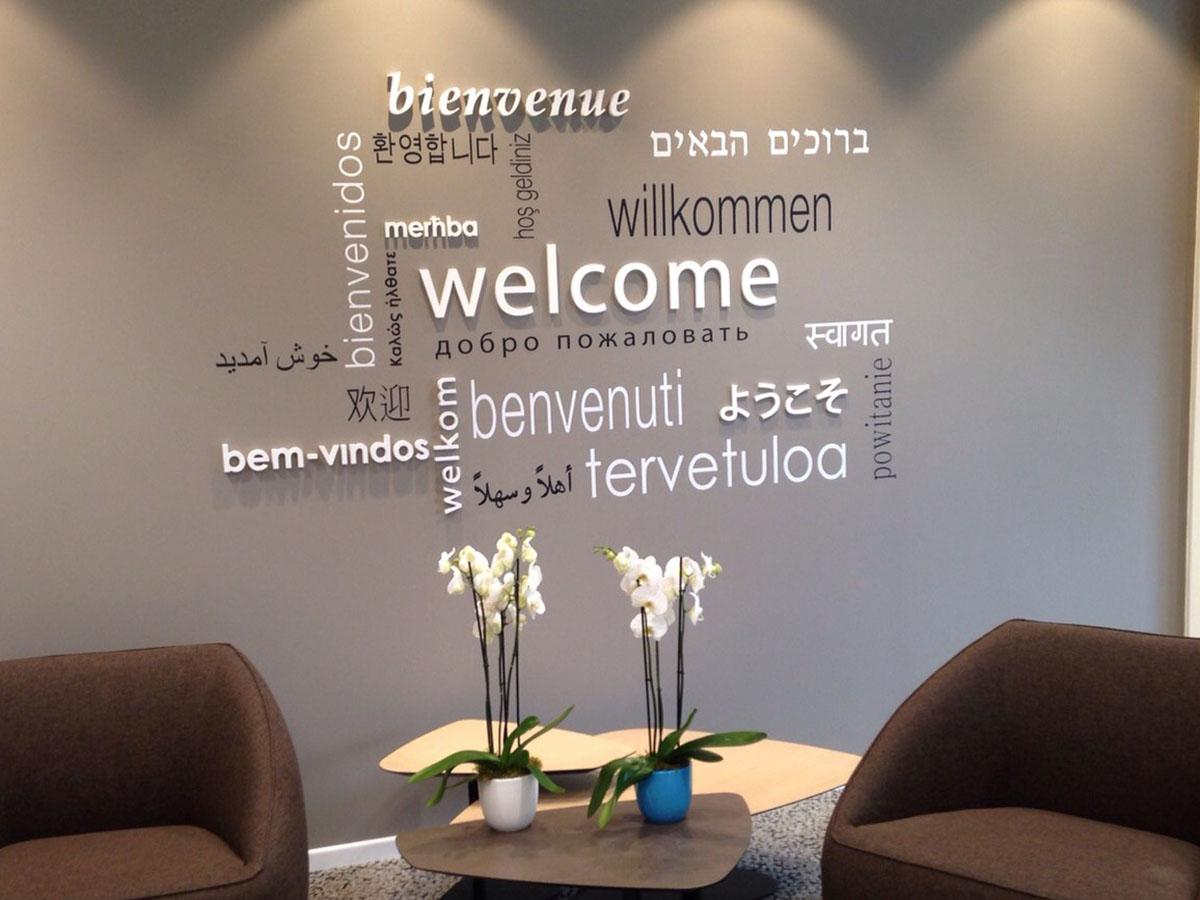 scritte in PVC compatto per uffici e negozi