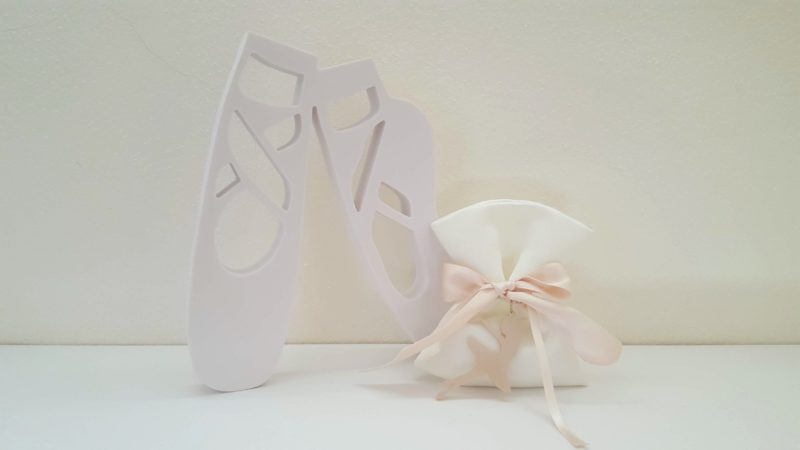 Bomboniera con ballerina rosa