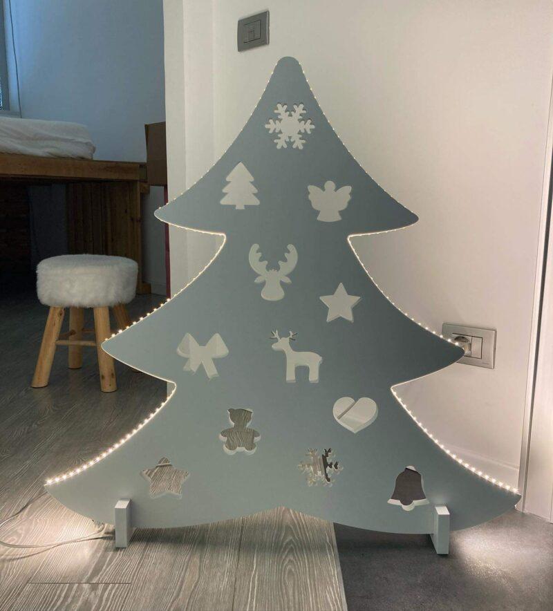 albero con led
