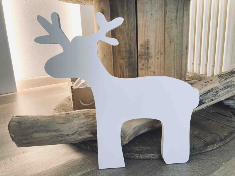 sagoma renna in pvc compatto autoportante per la tua casa di Natale