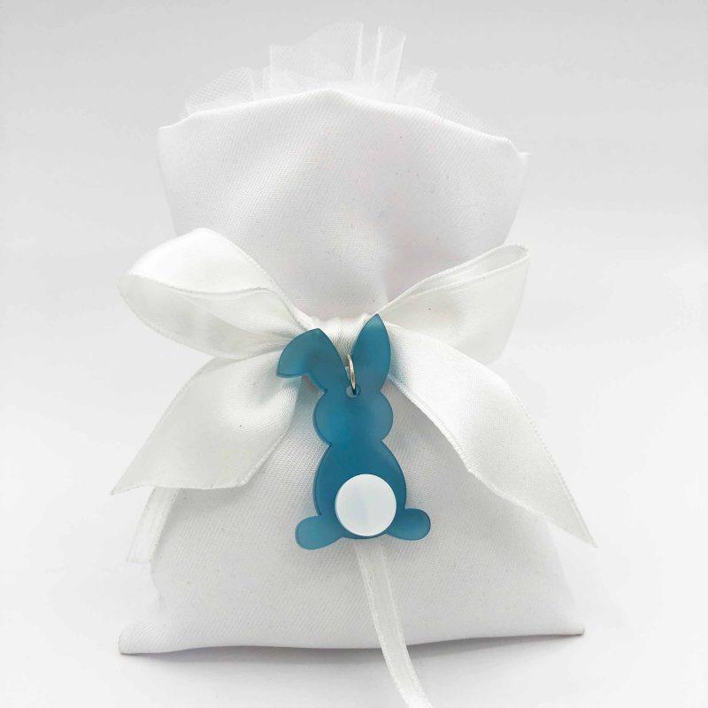 bomboniera sacchetto con coniglietto