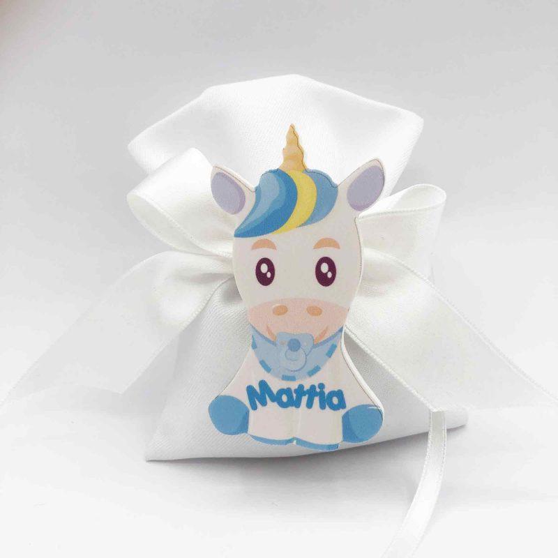 bomboniera unicorno azzurro boy